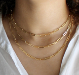 *Pre-order* 14k Gold Filled Paperclip Necklace