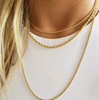 14k Gold Filled Rope Necklace