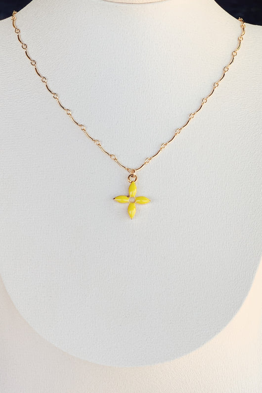 LV Enamel Flower Necklace