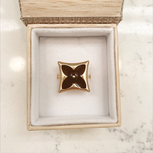 Brown LV Square Ring