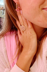 Pink nude CC ring