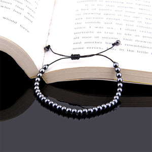 Polished Dark Hematite Bead Bracelet