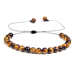 Slim Tiger Eye Bead Bracelet