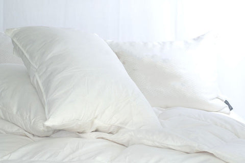 Triple Core White Duck Down and Feather Pillow