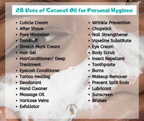 28 Uses of Coconut Oil for Personal Hygiene