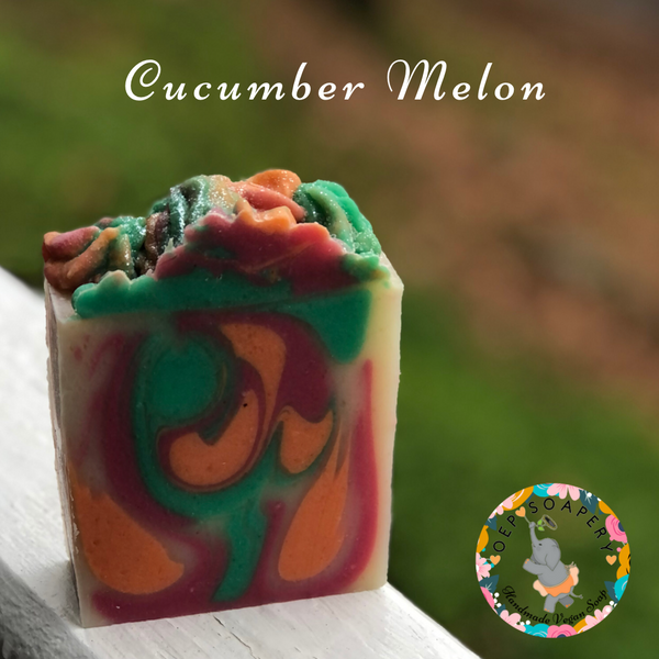 Cucumber Melon Handmade Vegan Soap