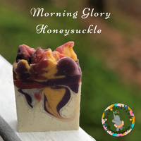 Morning Glory Honeysuckle Handmade Vegan Soap