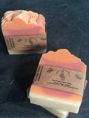 Peachy Clean Cobbler Handmade Vegan Soap