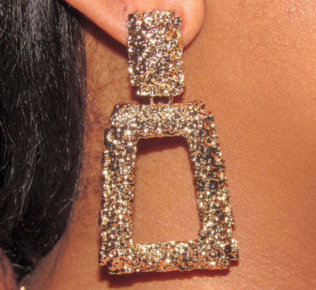 """Geo"" Drop Earrings"