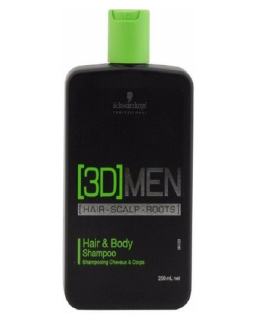 SCHWARZKOPF 3D MEN HAIR & BODY SHAMPOO 250 ML. - El Palacio De La Belleza