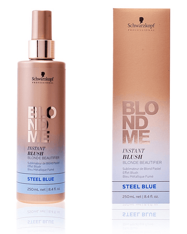 SCHWARZKOPF BLONDME INSTANT BLUSH 250 ML. STEEL BLUE - El Palacio De La Belleza