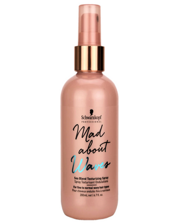 SCHWARZKOPF MAD ABOUT WAVES SEA BLEND SPRAY MARINO 200 ML. - El Palacio De La Belleza