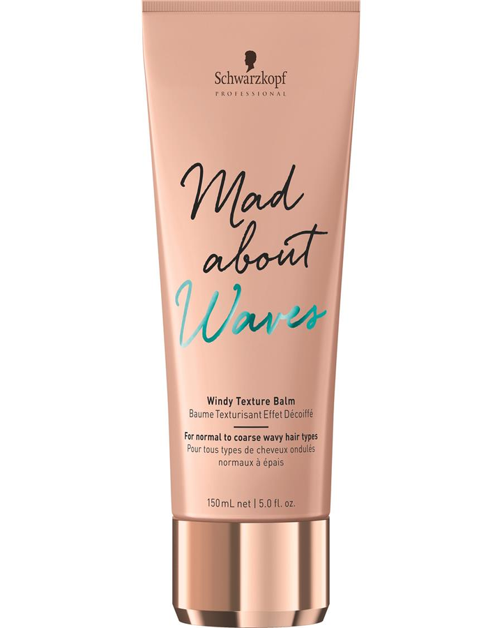 SCHWARZKOPF MAD ABOUT WAVES WINDY TEXTURE BALM 150 ML. - El Palacio De La Belleza