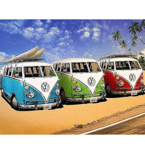 3 Alter VW-Busse - Myth Of Asia