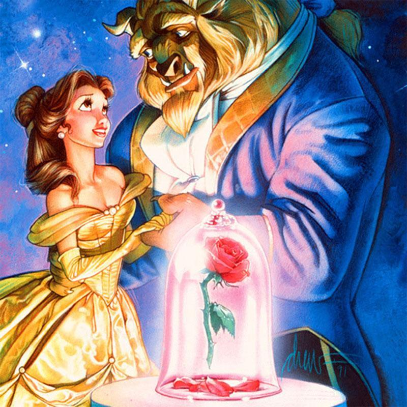 Beauty And The Beast | Diamond Painting - Myth Of Asia