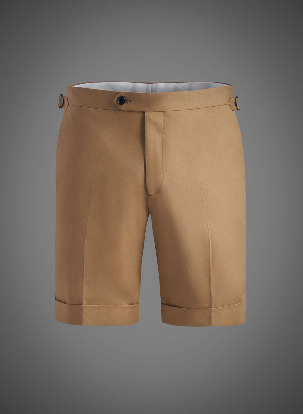 Fitted Short With Side Tabs & Cuffed Hem-Camel(JBW007S)