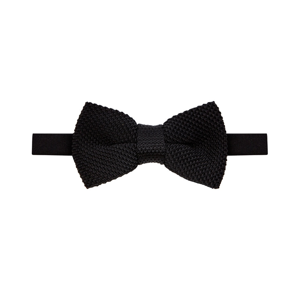 Bow Tie - Knitted Black