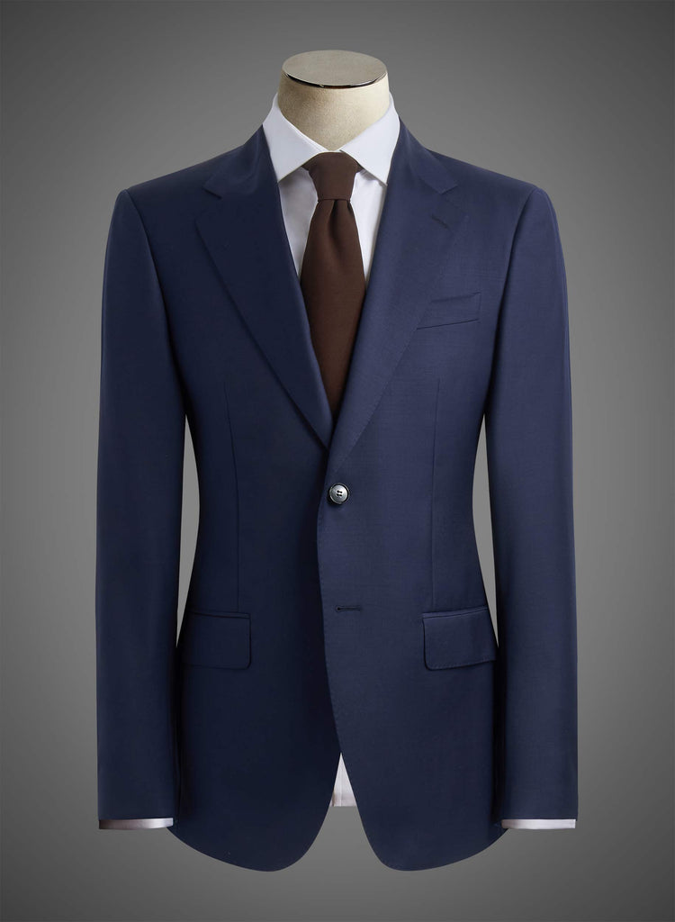 2 button 9cm Notch lapel jacket with 0.15 Pick stitching - Navy (DEE1001)
