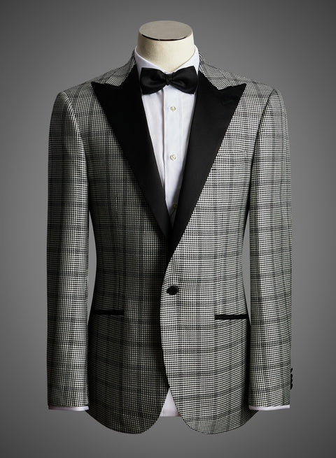 BW SIGNATURE JACKET - Window Pane Houndstooth w/ Peak Lapel (EKT37120)