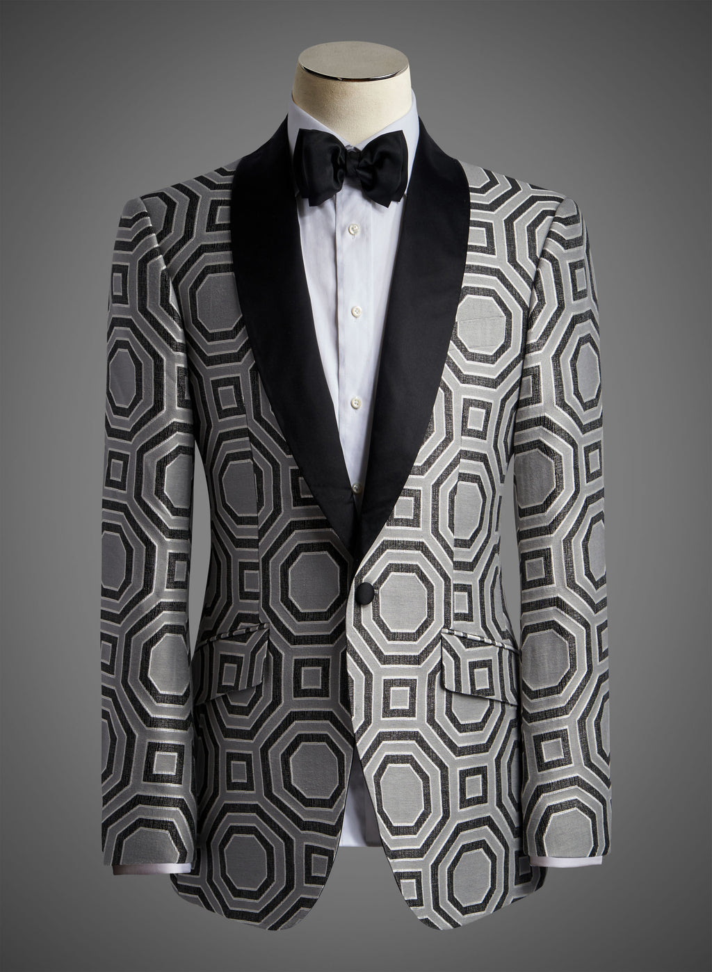 BW SIGNATURE JACKET - Charcoal Satin Shawl Lapel (SINFONIA-F)