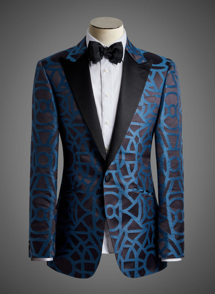 Designer Jacket with Night Satin Peak Lapel