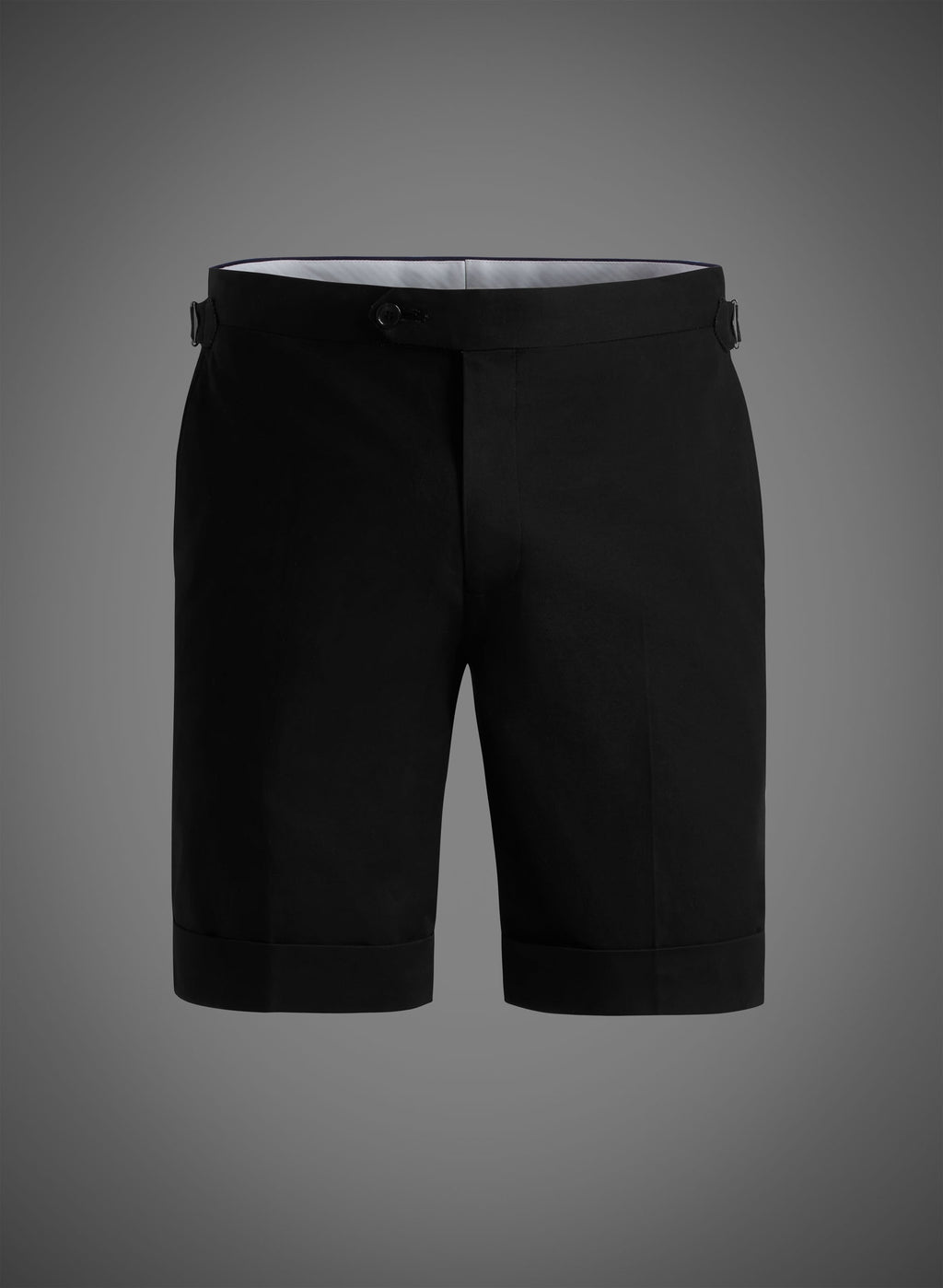 Fitted Short With Side Tabs & Cuffed Hem - Black (JBW007S)