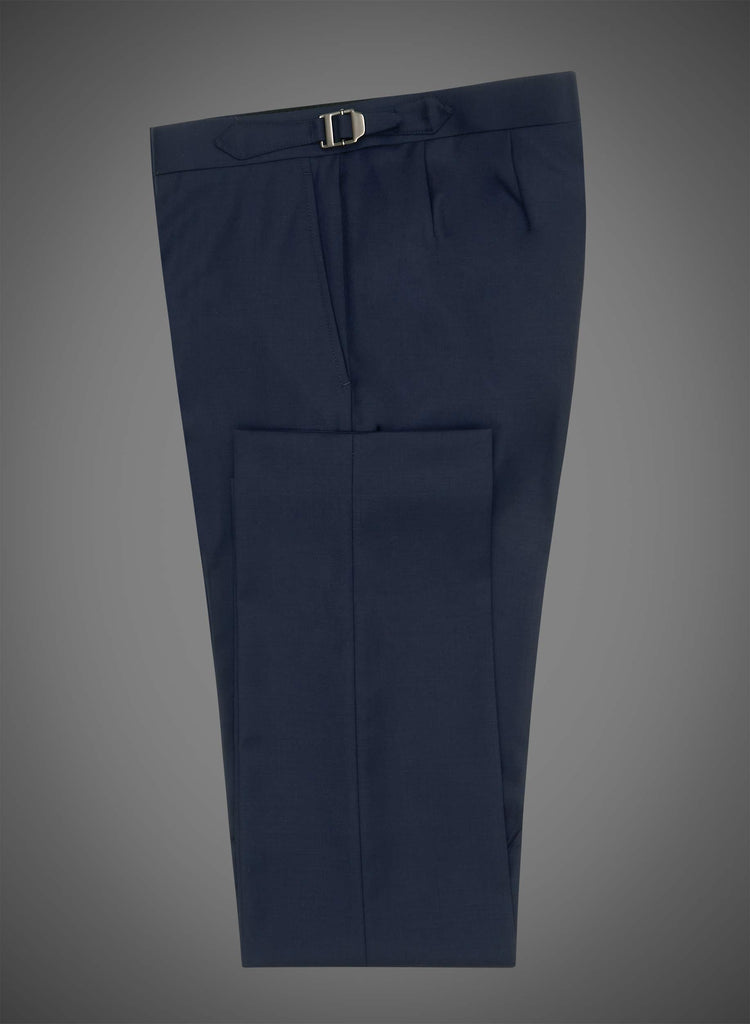 Flat front pant with side tabs - Navy (DEE1001)