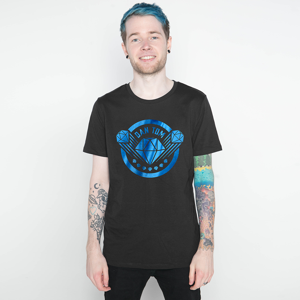 DanTDM Black Blue Foil T-Shirt
