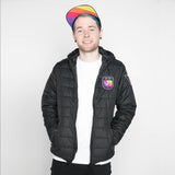 DanTDM Black Padded Jacket with Embroidered Patches