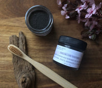 sparkling clean / an herbal + mineral based tooth powder