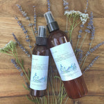 bug barrier / a bee-safe herbal + botanically infused spray to repel ticks, mosquitoes, gnats, and other pests.