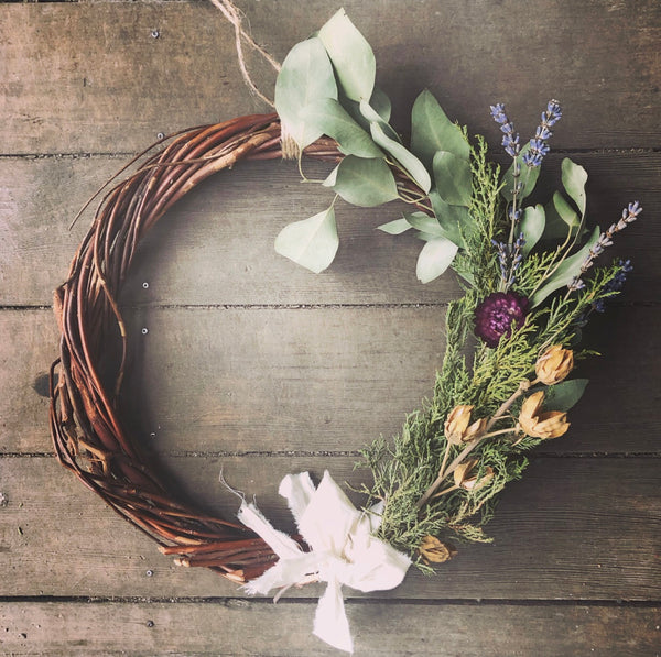 botanical wreath / a sacred + wild home adornment