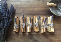 palo santo smudging bundle / reiki infused + raw quartz