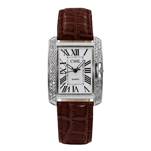 Hot Sale Square Rhinestone Dial Women Watch Luxury
