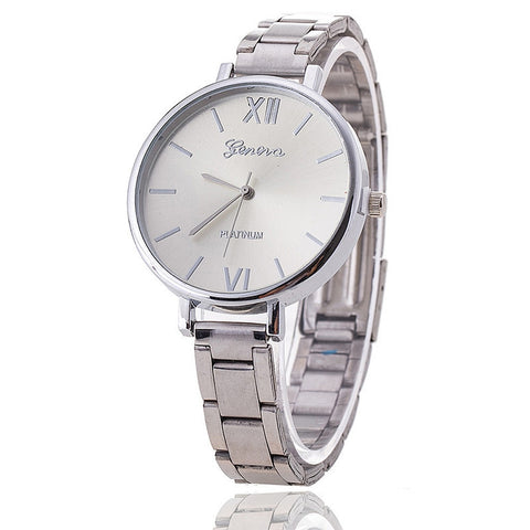 Geneva women watches Military Stainless Steel