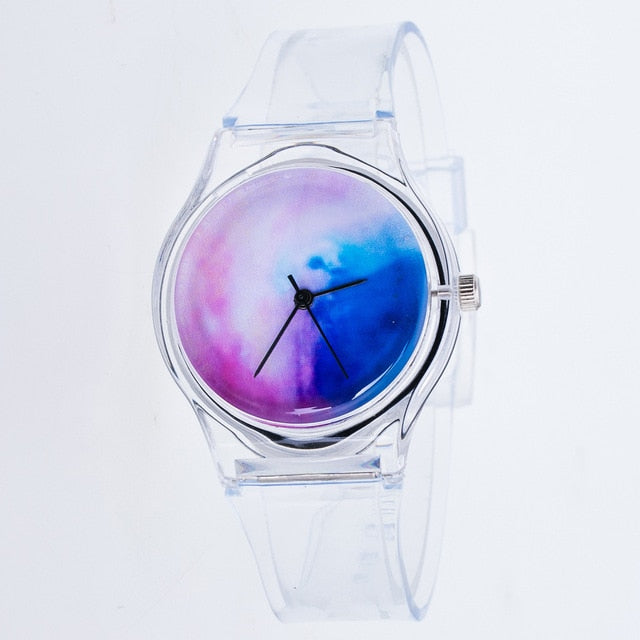 Transparent starry sky Watches Women Sport Casual