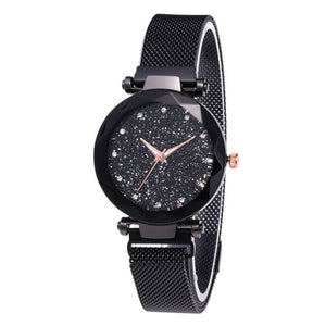 Gofuly Watch Star Sky Watch Ladies Magnet Stone Milan