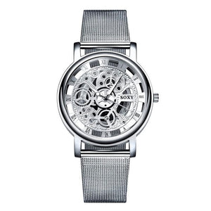 Hollow Watch 2020 Skeleton Wristwatch Men Mesh Belt