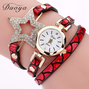 Brand Watch For Women Luxury Pendant Leather Band