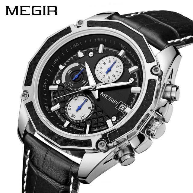 Watches Fashion Genuine Leather Chronograph