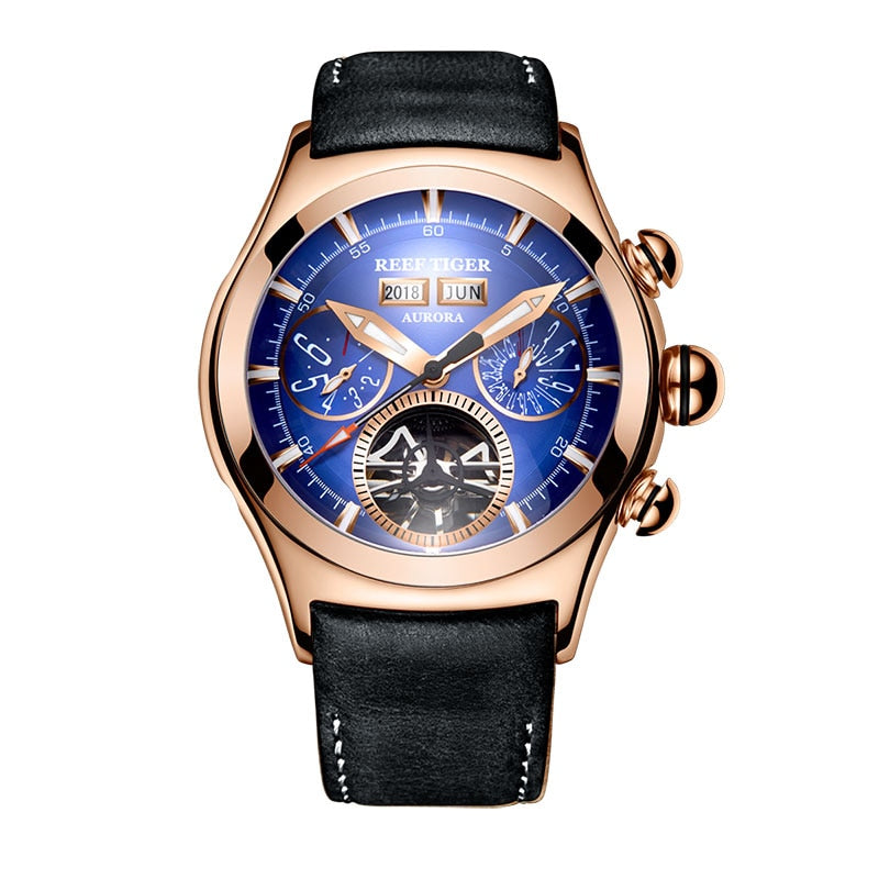 Reef Tiger/RT Luxury Mens Watches Rose Gold Automatic Watches