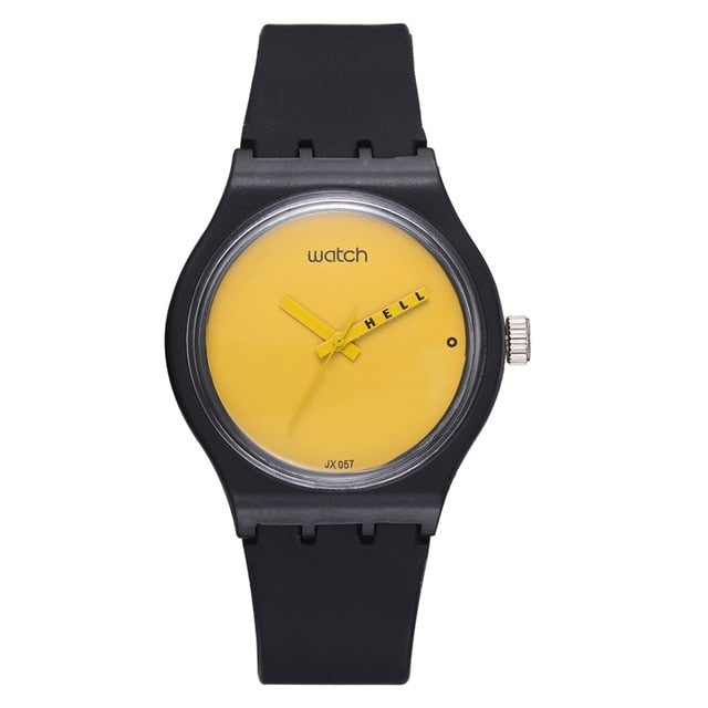 Fashion Watch Women Sport Creative Yellow