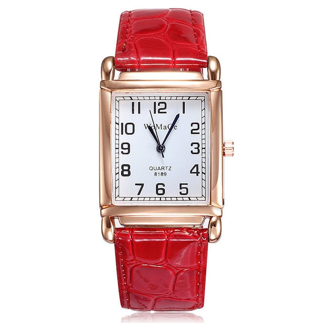 Luxury Brand Lady Watches Women Red White