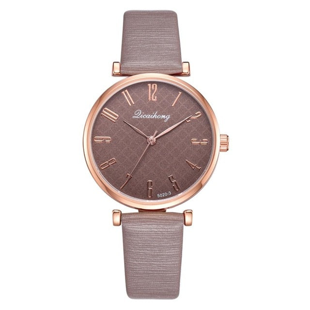 Minimalist Leather Watches For Women Simple Black