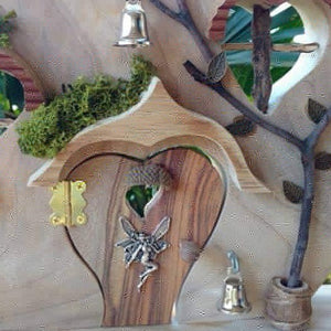 Heart shaped fairy door playscape