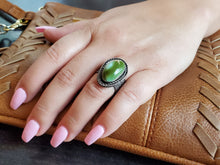 Load image into Gallery viewer, Moss Green Royston Adjustable Ring