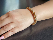 Load image into Gallery viewer, Gold Rope Chain Maille Bracelet