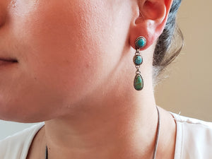 Kingman, Campitos and Tyrone Drop Earrings