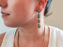 Load image into Gallery viewer, Tyrone, Campitos and Carico Lake Four Small Turquoise Earrings