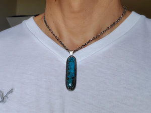 Burro Mountain Long Oval Pendant